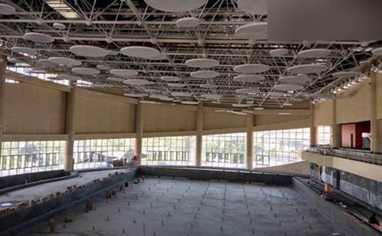 福建福州游泳馆吸音板工程