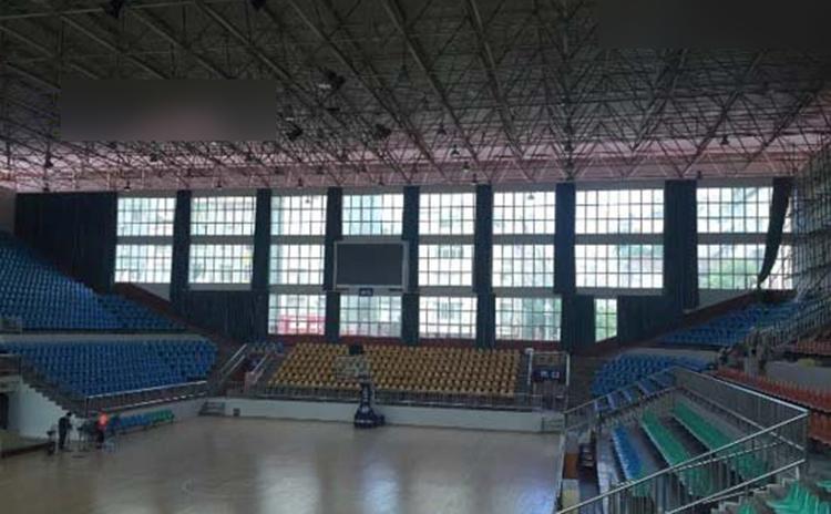 广西梧州体育馆吸音板工程