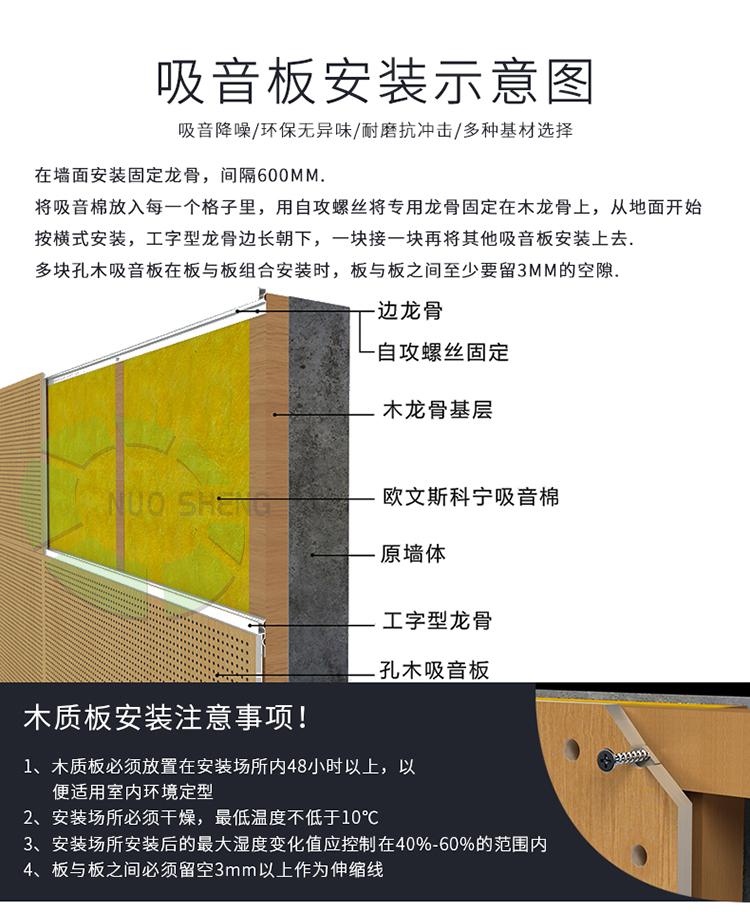 穿孔吸音复合板安装方法