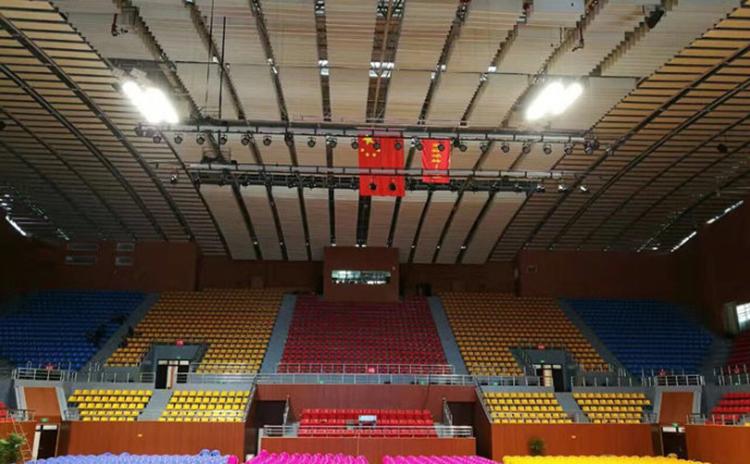 湖南湘潭中学体育馆吸音板工程