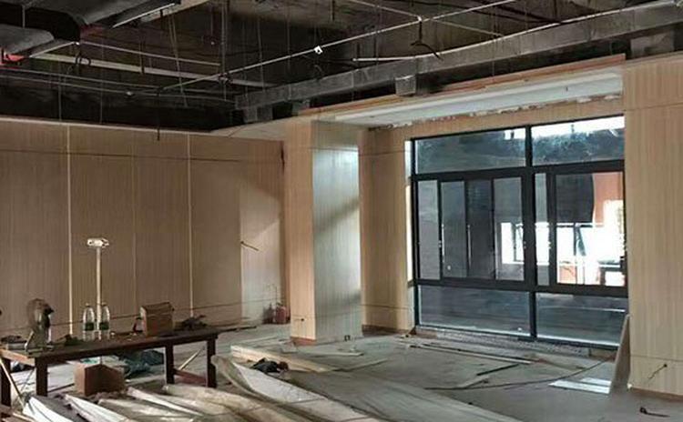 广东珠海剧场槽木吸音板声学工程