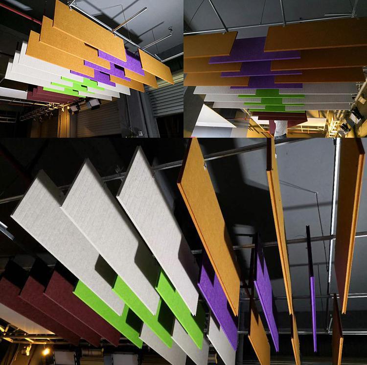 安徽蚌埠商场空间吸声体声学工程