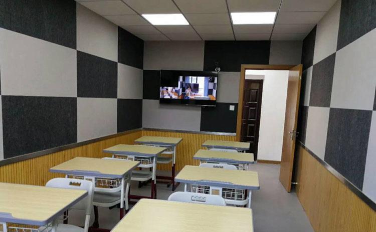 湖南岳阳学校教室聚酯纤维吸音板声学工程