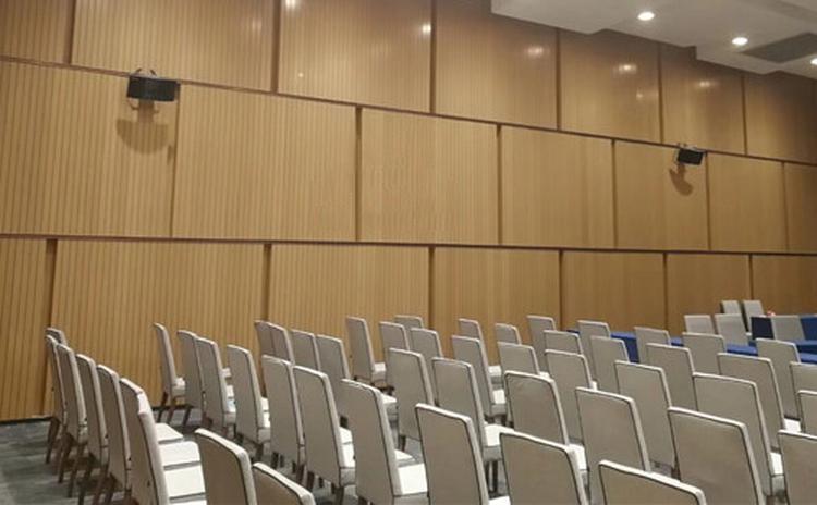 安徽滁州会议室槽木吸音板声学工程