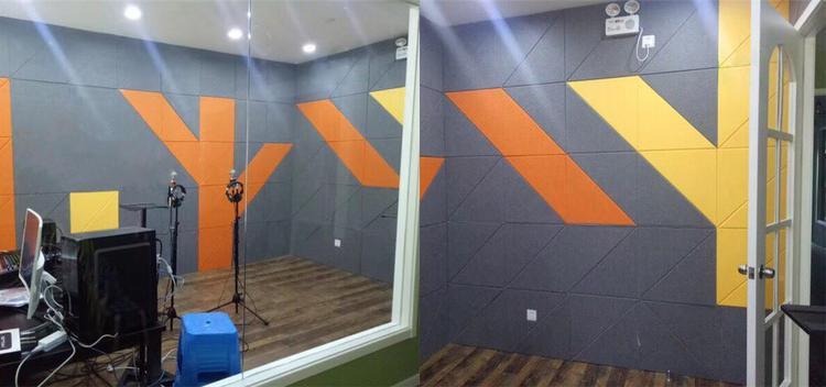 河南驻马店电台演播室聚酯纤维吸音板声学工程