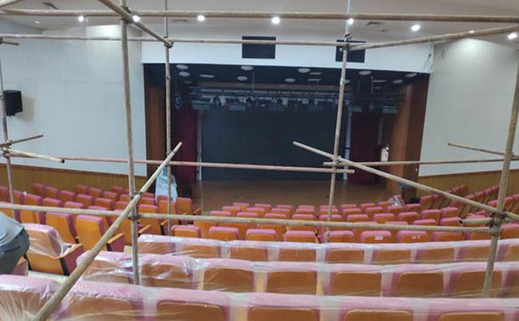 河南商丘学校剧院聚酯纤维吸音板声学工程
