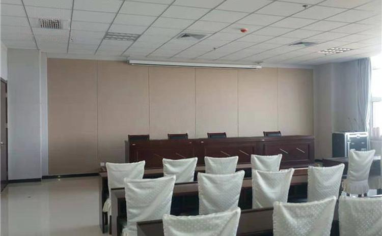 广西河池会议室聚酯纤维吸音板声学工程