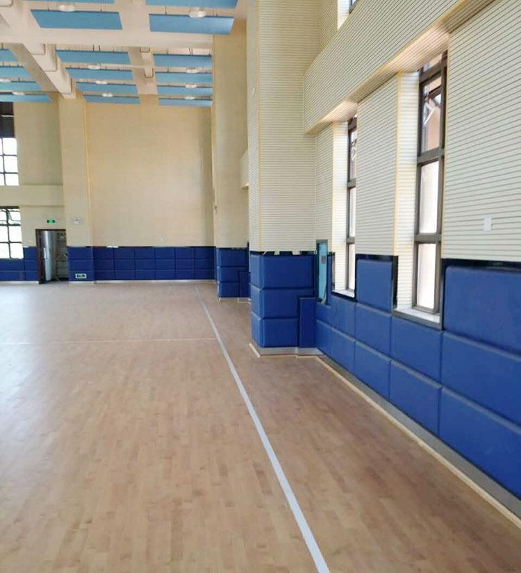 广东揭阳学校体育馆墙面木质吸音板声学工程