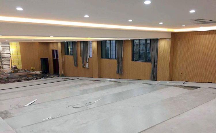 江西景德镇学校阶梯教室木质吸音板声学工程
