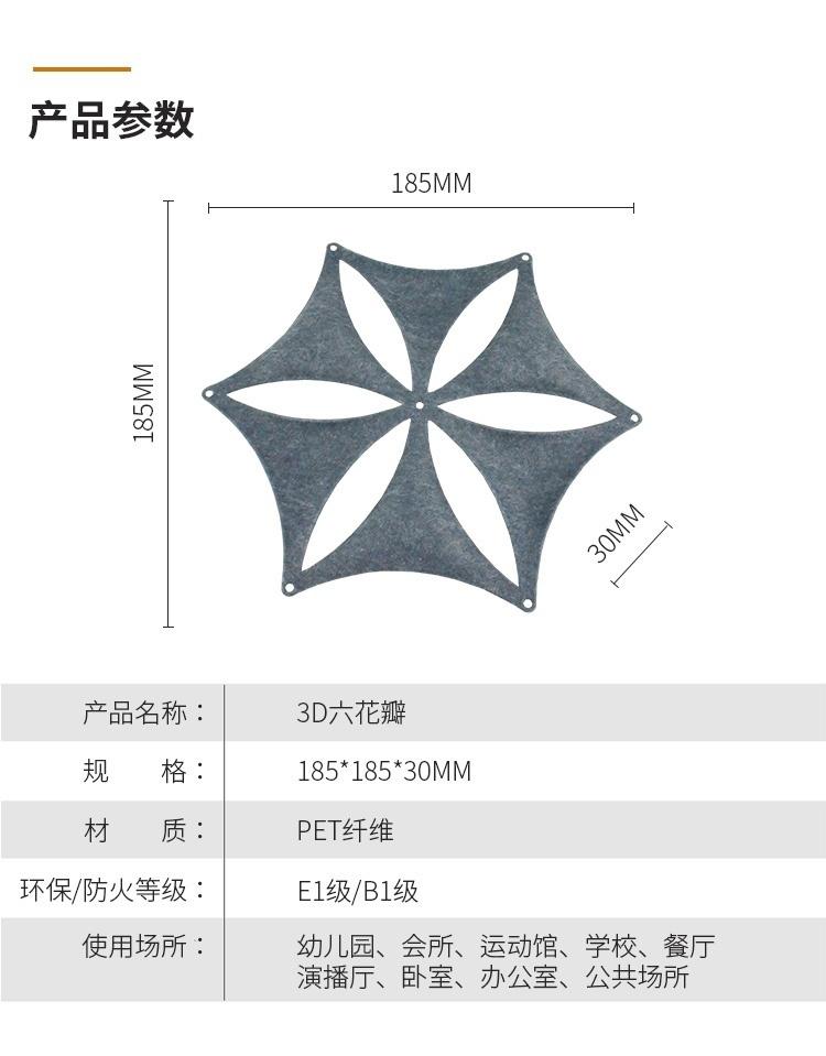 3D聚酯纤维吸音板产品参数