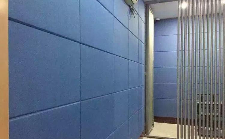 浙江衢州审讯室布艺软包吸音板声学工程-2