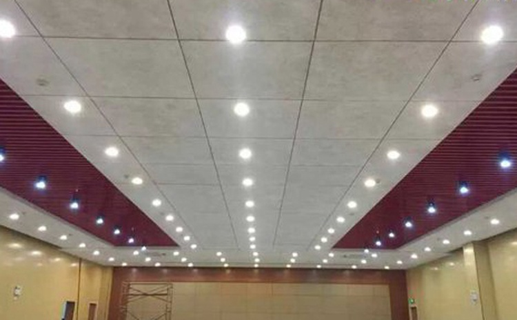 四川乐山学校会议室吸音纤维板声学工程-2