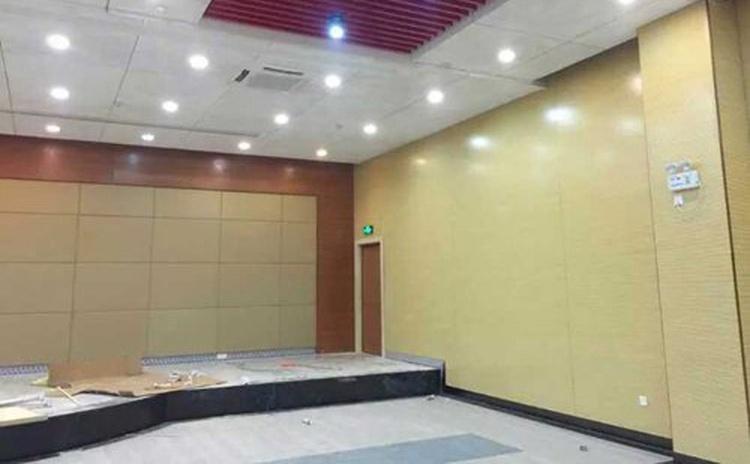 四川乐山学校会议室吸音纤维板声学工程-3