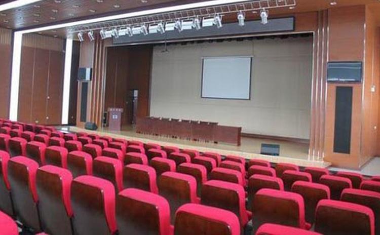 湖北荆门大型会议室聚酯纤维吸音板声学工程