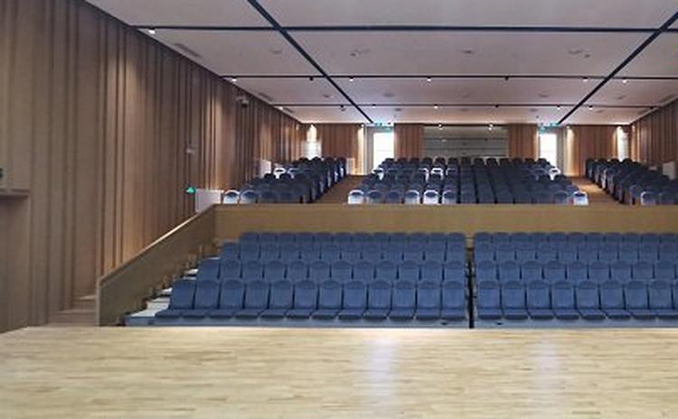 广西百色学校多功能厅陶铝吸音板声学工程