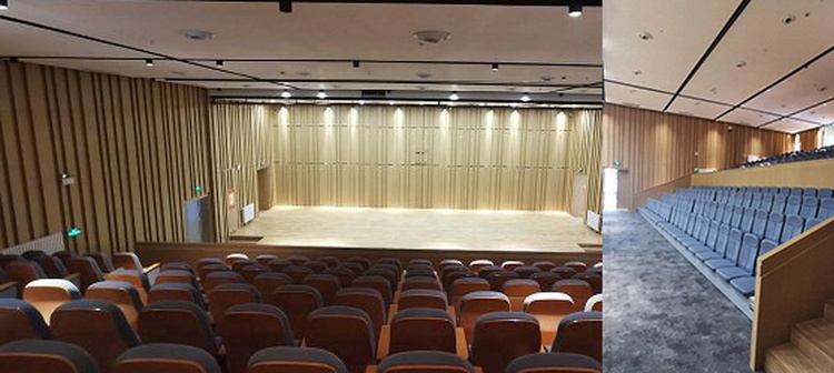 广西百色学校多功能厅陶铝吸音板声学工程-2