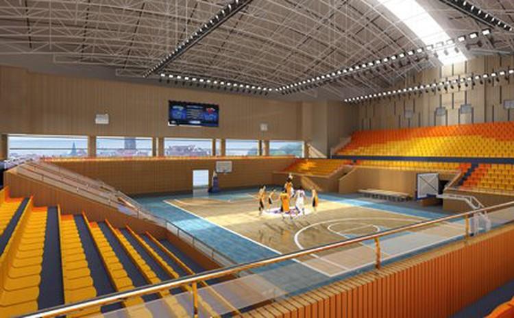 四川南充体育馆天棚吸音吊块工程