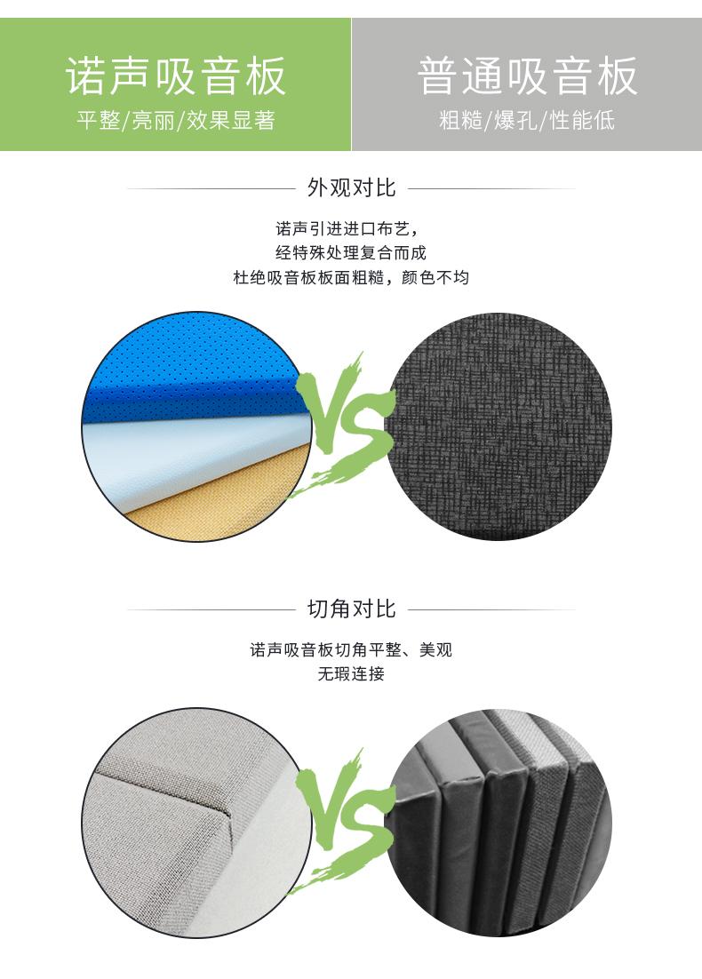 布艺软包吸音板对比