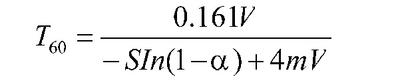 T60的计算公式