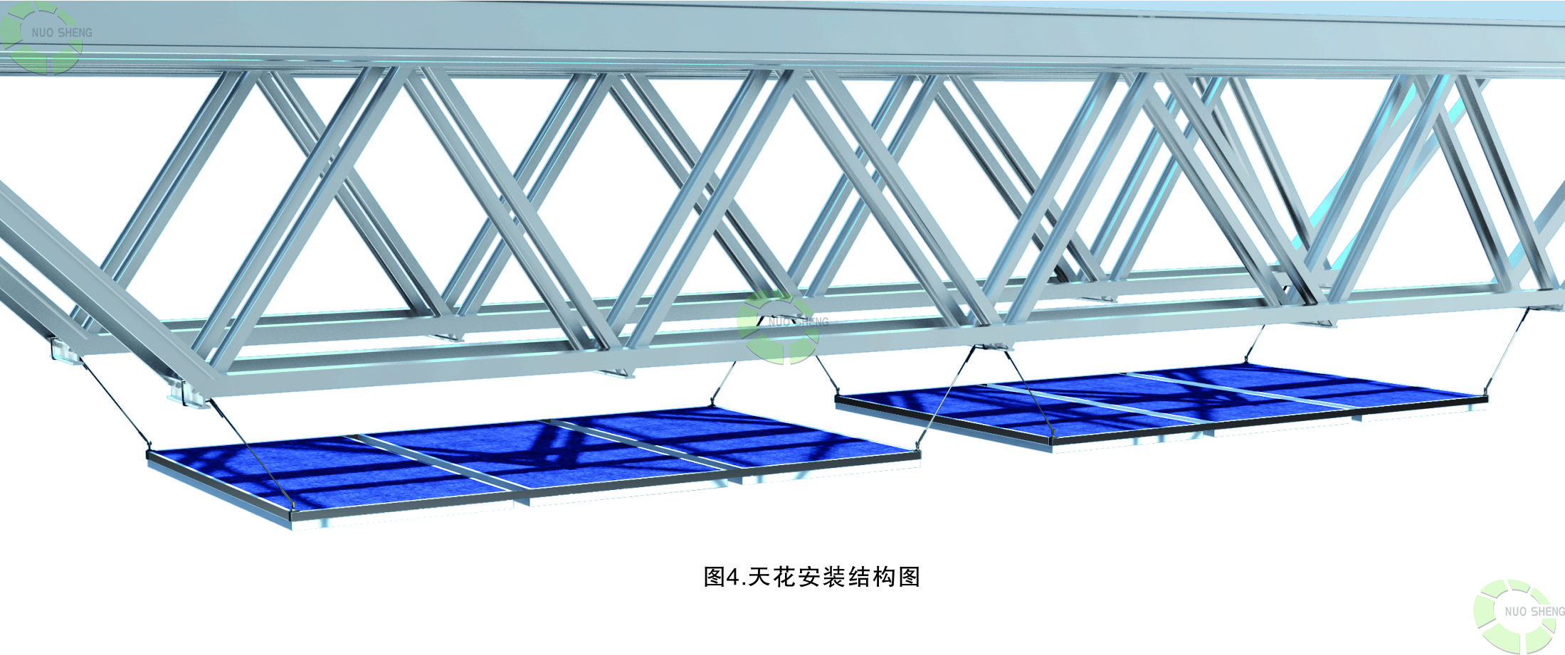 天花安装结构图